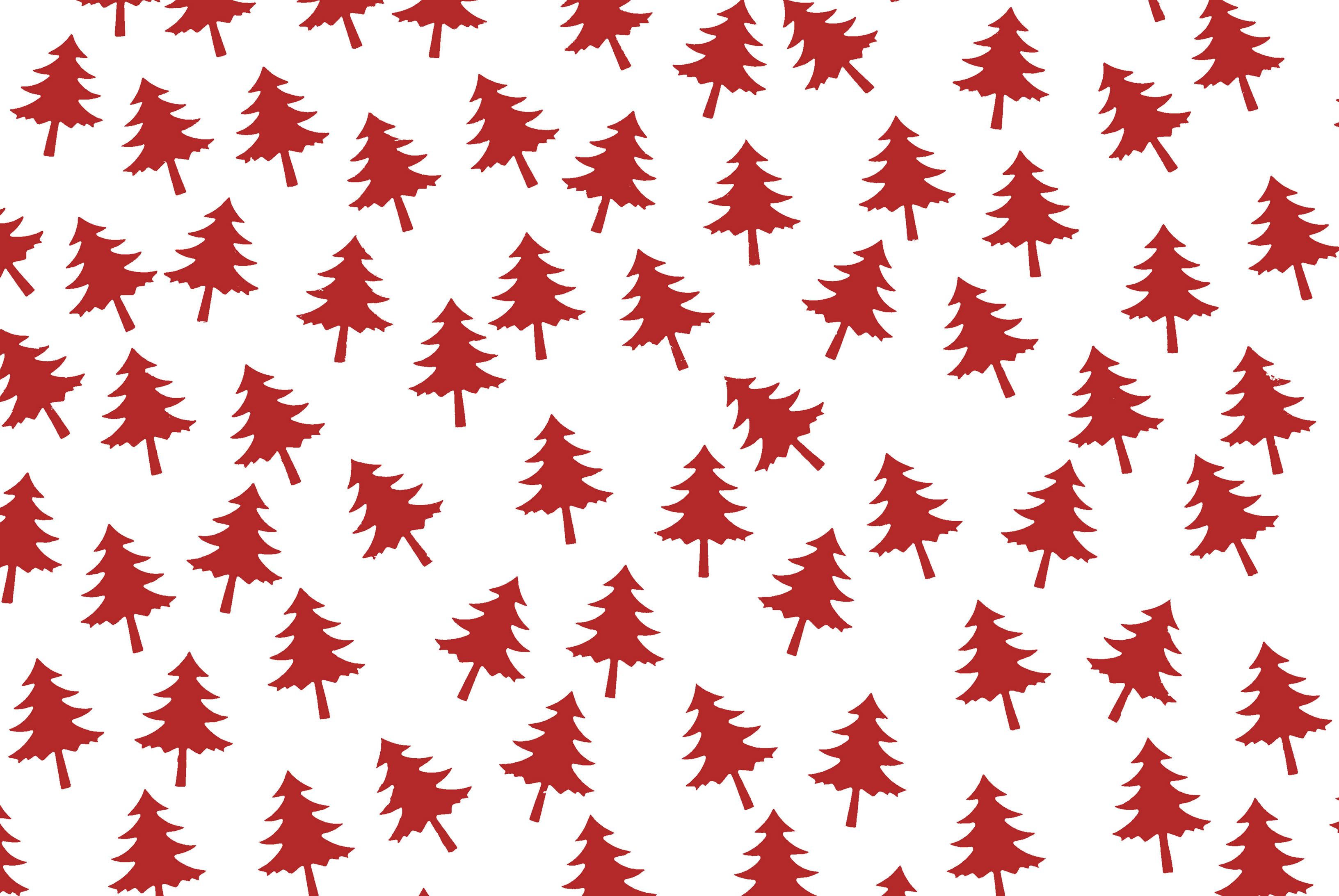 red christmas tree shapes