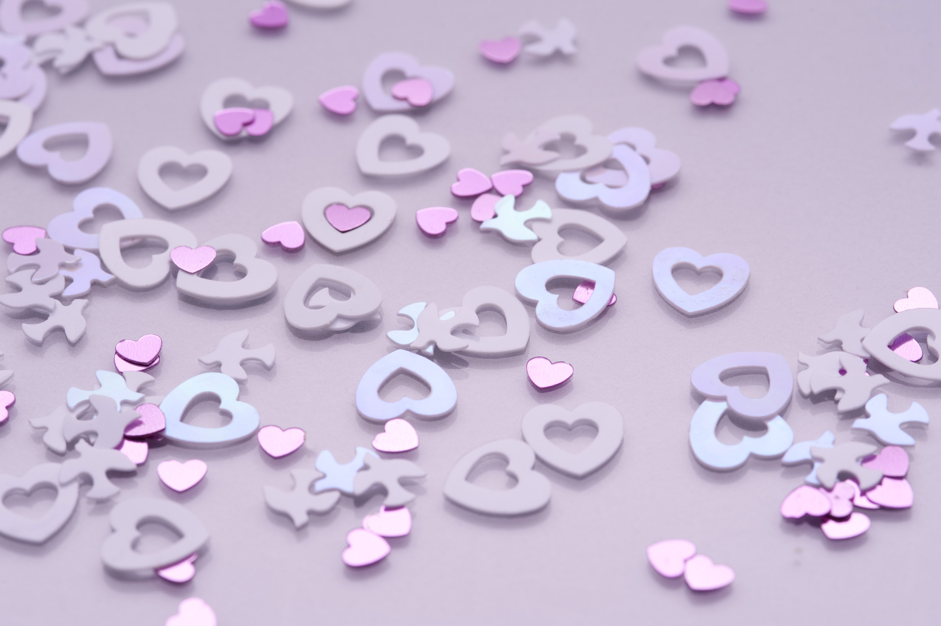 wedding confetti hearts and doves