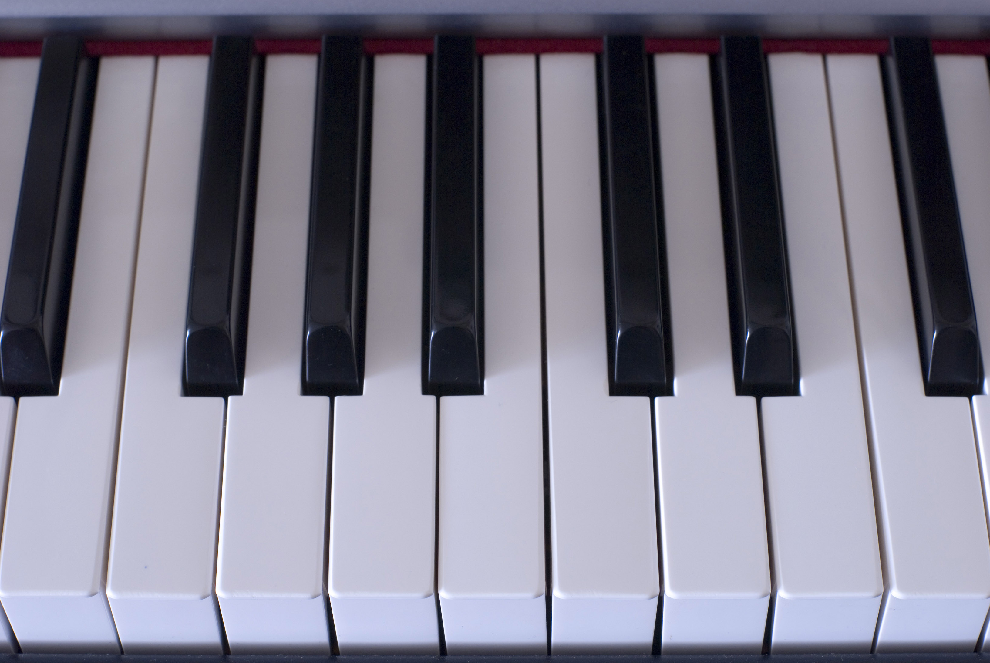 an octave of piano keys