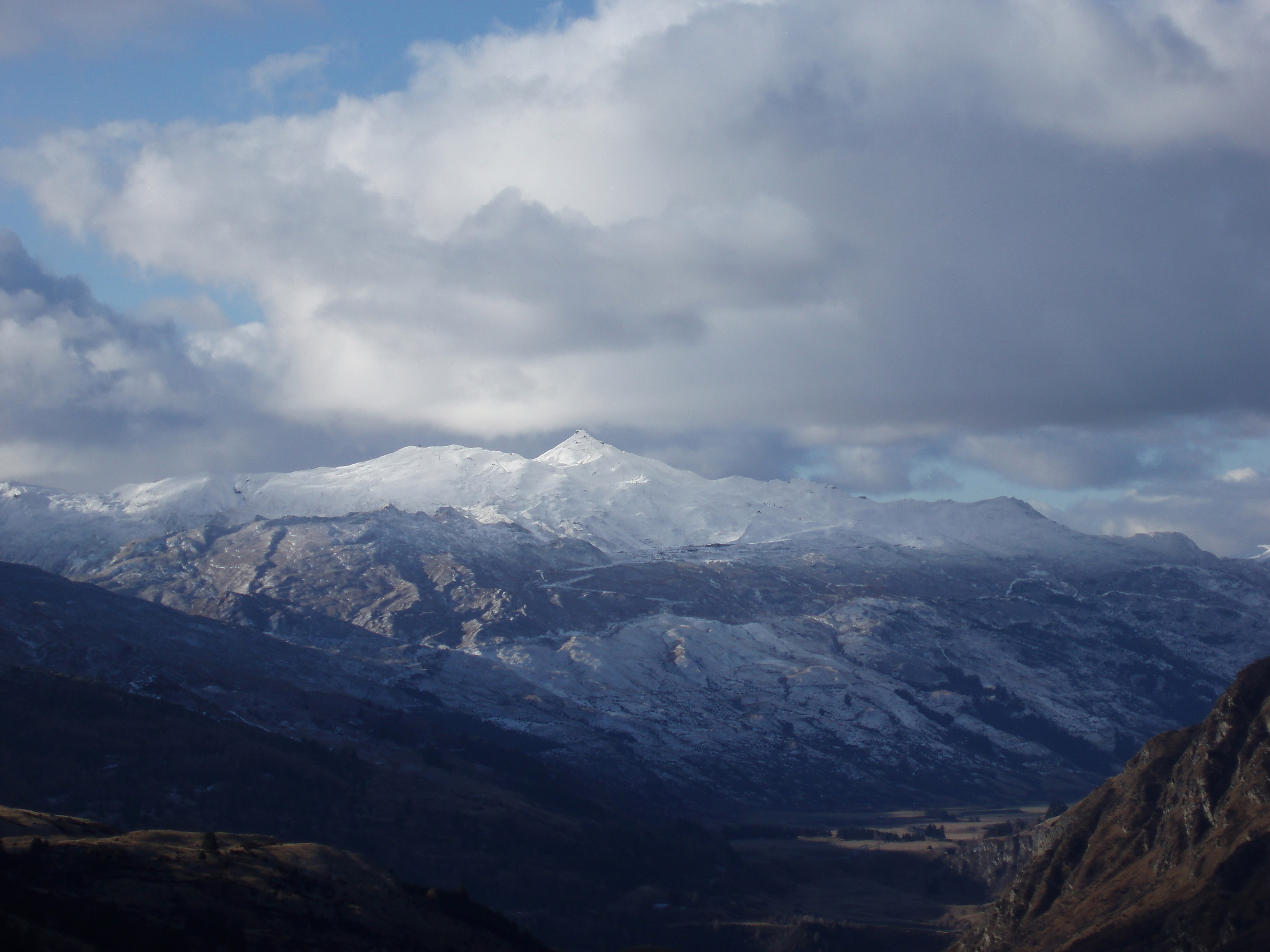 snow covered coronet peak